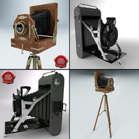3d antique cameras v1 model