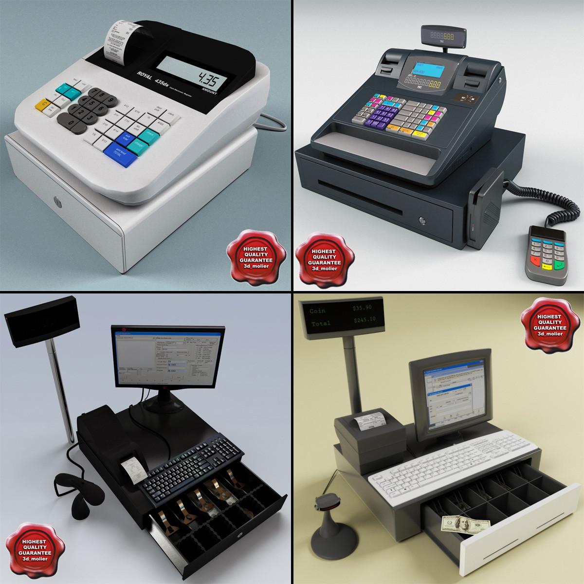 cash registers 3d 3ds