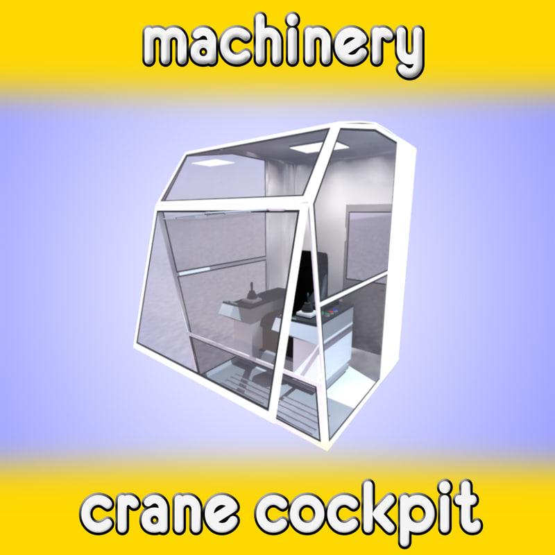 3d crane cockpit model