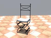 manosque iron chair 3d 3ds