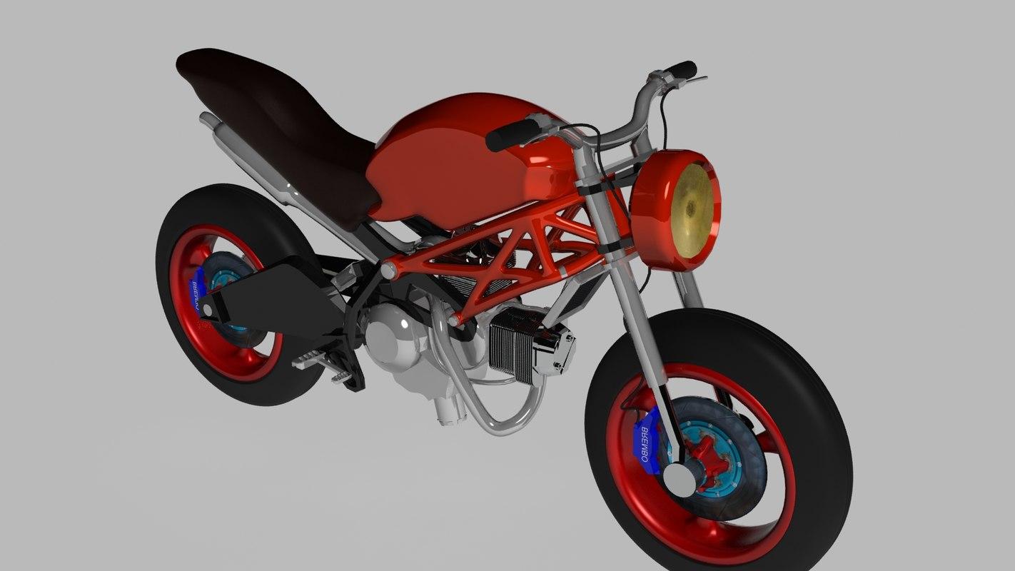 ducati monster motor 3ds