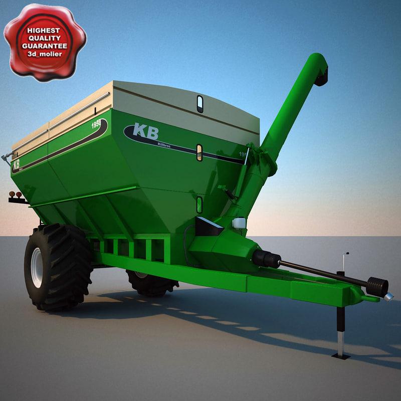 3ds max farm grain cart killbros