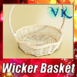 obj fruit basket wicker