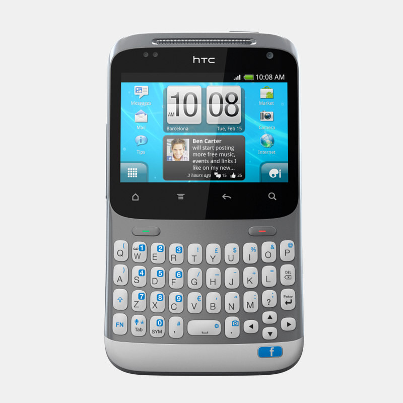 3d htc chacha mobile phone