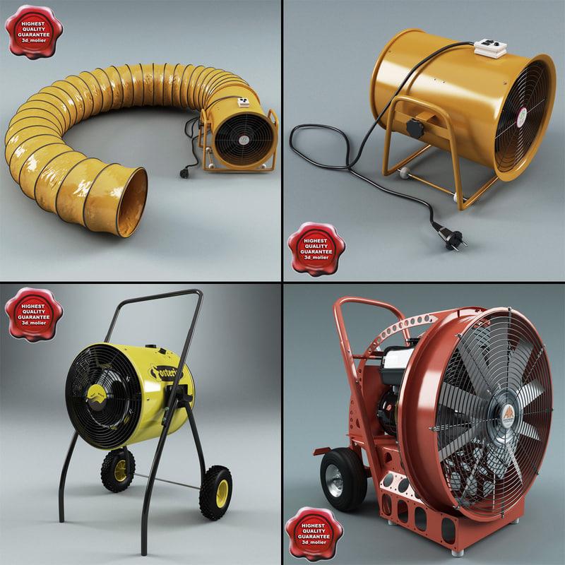 3d model industrial air blowers