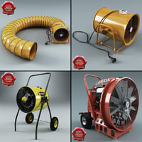 3d model industrial air blowers