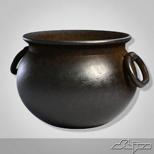 iron pot 3d model