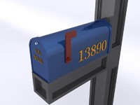3d model mailbox mail box