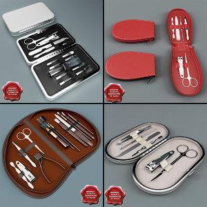 3d model manicure sets