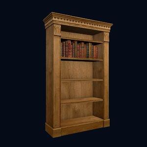 3ds max bookcase books