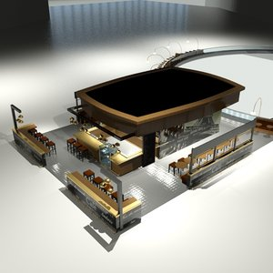 3ds max restaurant bar