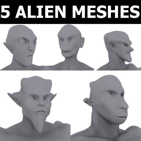 3d 5 base meshes model