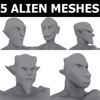 3d 5 base meshes model