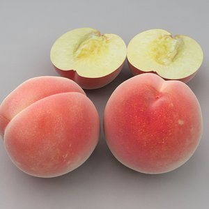 3d model peach modelled