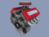 3d v8 engine