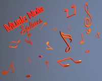 free c4d model music notes