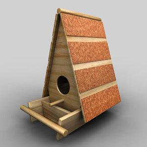 3d model wooden bird nest