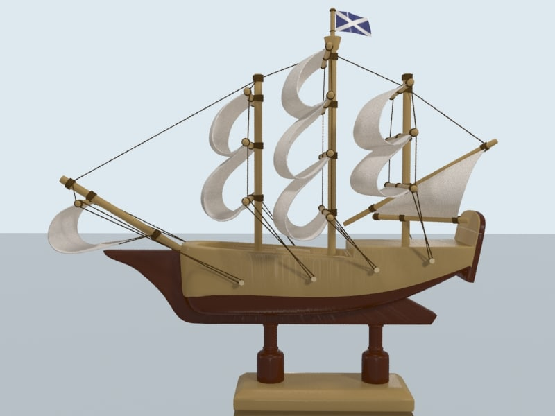 galleon sailing ship bottle 3d max