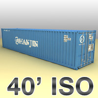 40 feet container ships 3d max