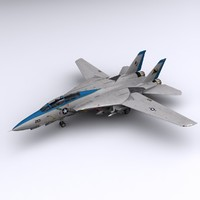 3d model f-14 fighter jet f-14d
