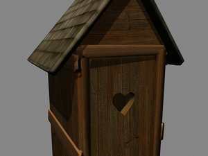 free old outhouse 3d model
