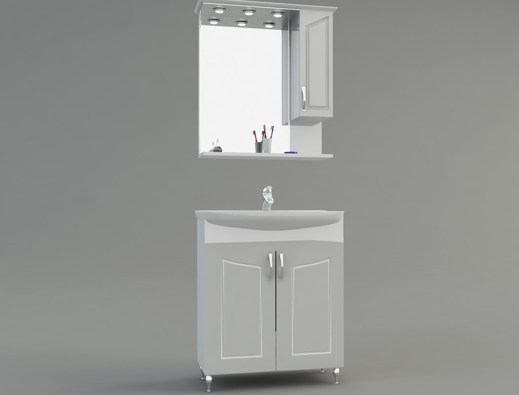 3d model of bathroom cabinet