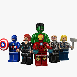 3d model avengers child