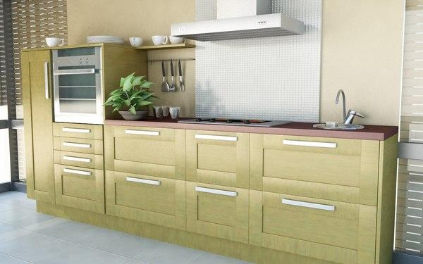 realistic kitchen 3d model