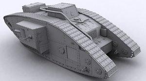 3d model british mark v