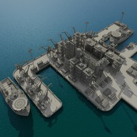 maya industrial port plant vessel
