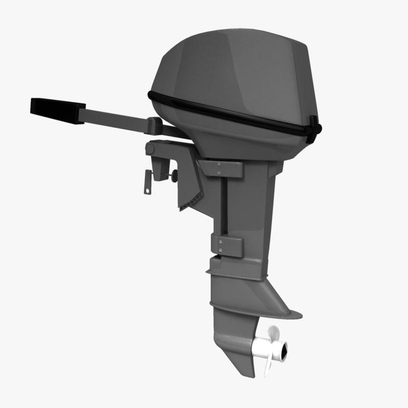 outboard motor 3d model