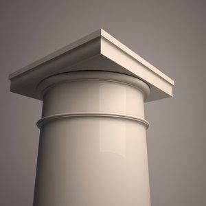 ancient roman tuscan column 3d model