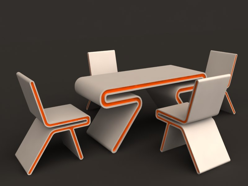 3d 3ds fantasy table chair