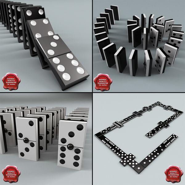domino set modelled 3d model