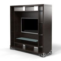Elledue AH305 tv stand shelves cinema media entertainment center etagere modern contemporary cabinet  art deco glamour