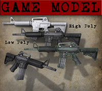 Cartoon M16 Game Model
