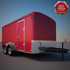 3d model haulmark cargo trailer