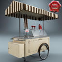 ice cream cart 3D models