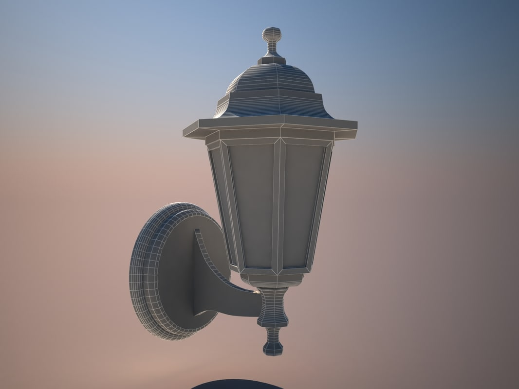 3ds max lamp wall mount