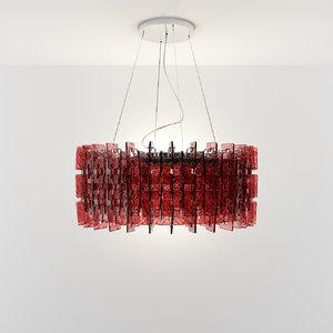 3d model chandelier murano hanging light