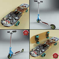 Micro Scooter and Skateboard