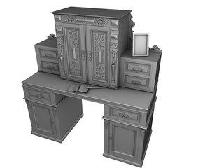 antique secretaire 3d model
