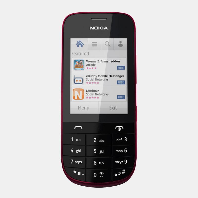 3d Model Nokia Asha 203