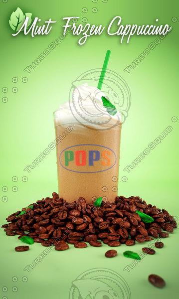 3d model frozen cappuccino