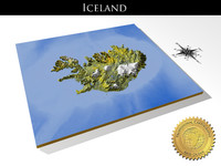 iceland resolution relief maps 3d model