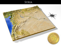 syria resolution relief maps 3d max