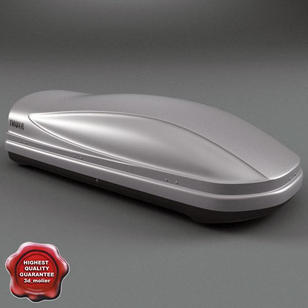 3d model of roof box thule