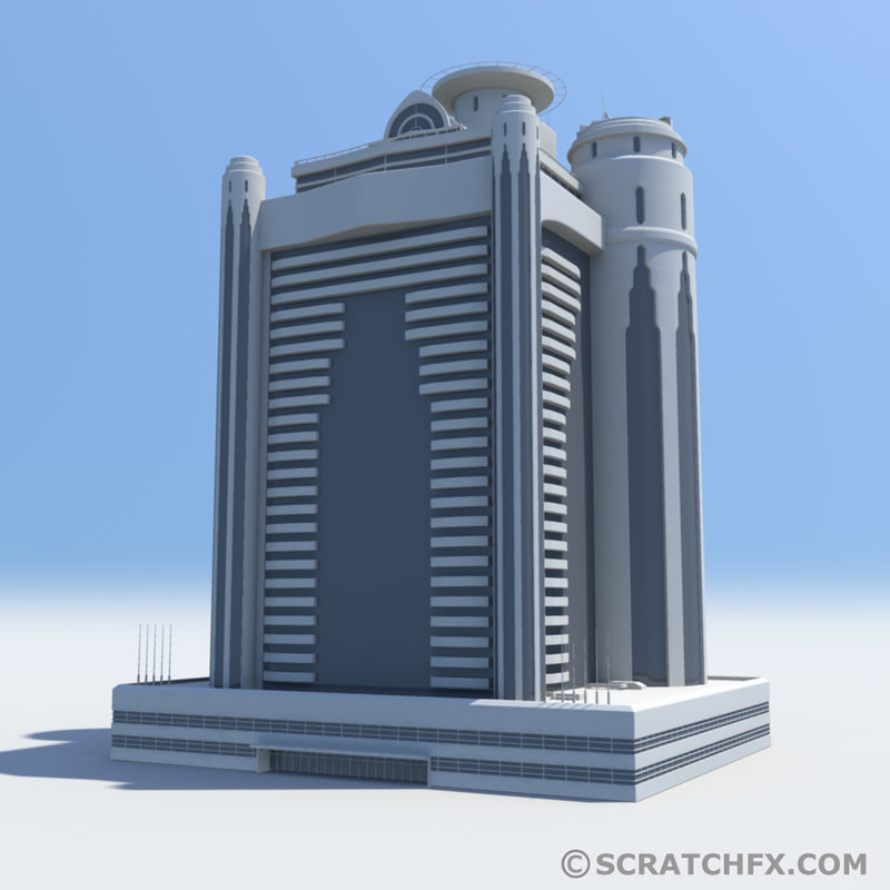 3d model skyscraper structure