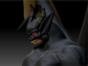 3d bat demon model