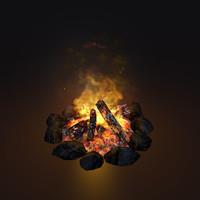 glsl campfire animation 3d blend
